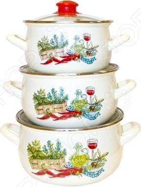 Набор посуды Interos «Гурман»