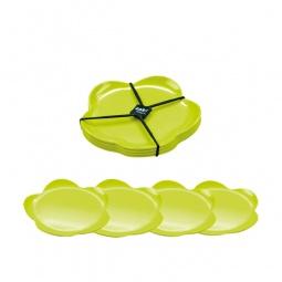 фото Набор тарелок десертных Zak!Designs «Цветочный». Цвет: зеленый