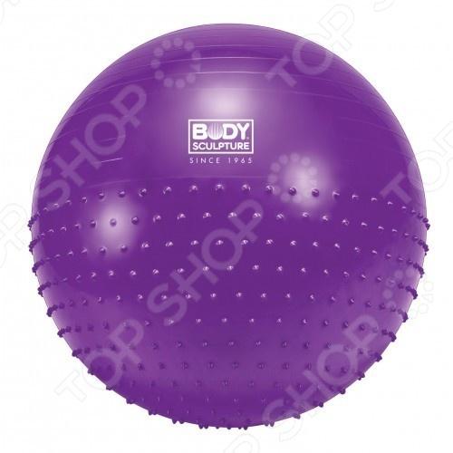 Мяч массажный Body Sculpture BB010Мячи массажные<br>Мяч массажный Body Sculpture BB010 предназначен для занятий фитнесом, аэробикой и лечебной физкультурой. Модель изготовлена из прочного ПВХ, что гарантирует долговечность и безопасность. Занятие с мячом снимет напряжение с позвоночника, поможет развить координацию движений, сформировать правильную осанку и укрепить целый ряд мышц. Активно тренируется дыхательная система и сердечная деятельность, а также сжигаются лишние калории. Благодаря особой форме обеспечивается особое удобство при реабилитационных мероприятиях. Подходит для людей всех возрастов даже грудных детей , поскольку тренировки с мячом практически полностью исключают нагрузку на позвоночник, суставы и связки.<br>