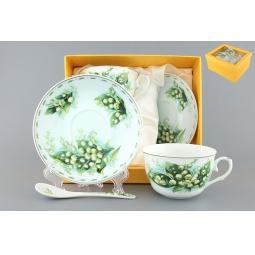 Купить Чайная пара с ложками Elan Gallery «Ландыши»