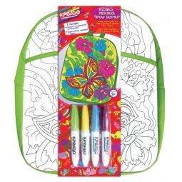 фото Набор для росписи рюкзака Креатто «Яркая бабочка»