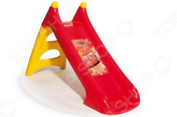 Горка детская Smoby «Тачки» 310146Игровые домики. Горки. Качели<br>Горка детская Smoby Тачки разборная горка среднего размера. Выполнена из упрочненного пластика. Такую горку можно будет разместить на дачном участке или во дворе. Материал легко моется и сушится. Без острых углов, с двумя нескользящими ступеньками. Такая горка станет отличным подарком для вашего ребенка и подарит много хорошего настроения.<br>