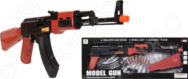 Автомат игрушечный со светозвуковыми эффектами «AK-47»Другое игрушечное оружие<br>Автомат игрушечный со светозвуковыми эффектами AK-47 оружие, с которым малыш почувствует себя настоящим стрелком и защитником. Преимущества:  Реалистичные звуки.  Световые эффекты.  Автомат разбирается. Специально создан для активных детей, обожающих подвижные игры. Удобно ложится в руку, и его можно использовать даже из положения лежа. При стрельбе включаются световые эффекты, при этом издавая звуковые эффекты, имитируя настоящую стрельбу для пущей реалистичности. Автомат отличается удивительной детализацией, поэтому игра с ним станет ещё увлекательней. Игрушка сделана из прочного пластика. В комплекте идут патроны.<br>