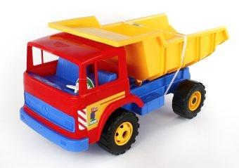 Самосвал игрушечный Лена большой «Гросс»Машинки<br>Самосвал игрушечный Лена большой Гросс замечательный образец игрушечной спецтехники. Мальчишкам нравится всевозможная техника, не станут исключением и профессиональные автомобили. Машинка с кузовом подойдет для игры как дома, так и на улице, в песочнице. Машинка готова подарить вашему малышу отличное времяпрепровождение и веселье за игрой. Сделана из качественных материалов, которые не вредят здоровью ребенка. Игра с подобными моделями способствует развитию воображения и повышает любознательность.<br>