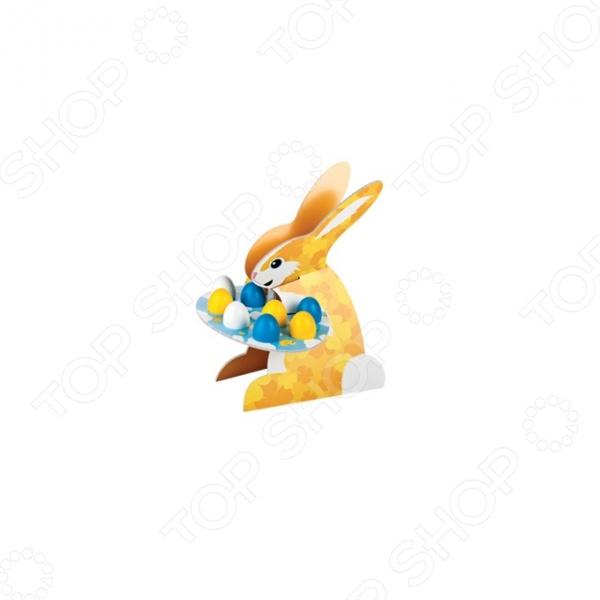 Этажерка сервировочная «Зайчик» крашеные яйца и цыплята Tescoma DeliciaНаборы посуды для сервировки<br>Этажерка сервировочная Зайчик крашеные яйца и цыплята Tescoma Delicia оригинальная этажерка в форме забавного зайчика, предназначенная для размещения пасхальных яиц. Помимо этого, на ней хранить и другие изделия: выпечку, шоколад, кексы и прочее. Благодаря своему дизайну великолепно подойдет для украшения стола во время пасхальных праздников. Все детали легко соединяются друг с другом, и также легко раскладываются.Этажерка выполнена из очень плотного картона, который устойчив к влаге и жиру.<br>