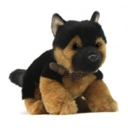 фото Мягкая игрушка для ребенка Hansa «Щенок немецкой овчарки»