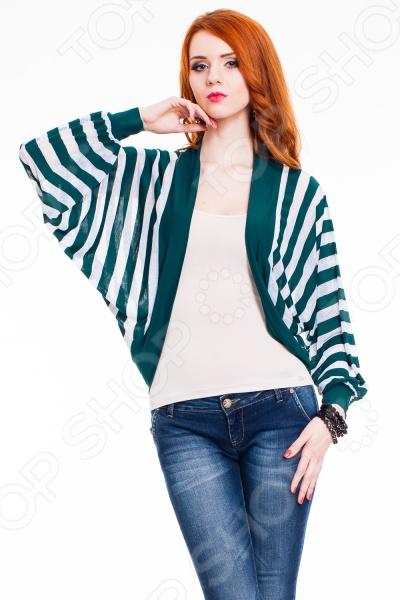 Болеро Mondigo 8739 это элегантное болеро, которое поможет вам завершить ваш образ стильной женщины. Такое болеро подойдет как для работы в офисе, так и для вечерних романтических прогулок. Строгая элегантность кроя подчеркнет все достоинства фигуры. Силуэт болеро обеспечивает идеальную посадку по фигуре. Удлиненное болеро свободного покроя в стиле летучая мышь украшено принтом в контрастную полоску. Вы сможете комбинировать болеро с различными блузами или водолазками. Болеро выполнено из ткани, которая на 65 состоит из вискозы. Поэтому ткань обладает антиаллергическими свойствами, хорошей воздухонепроницаемостью и приятными тактильными качествами. Болеро превосходно садится по фигуре, при этом не теряет форму и цвет даже после многократных стирок при условии соблюдения рекомендаций по уходу от производителя .