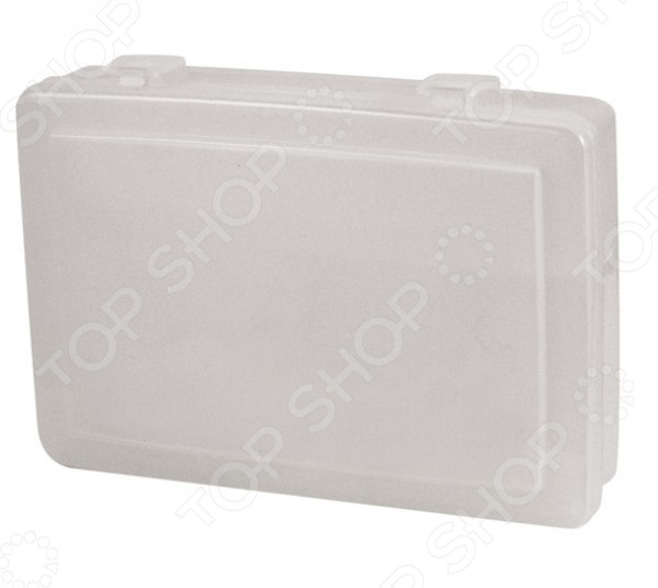 Ящик для крепежа FIT 65639Органайзеры. Ящики для крепежей<br>FIT 65639 это удобный и современный ящик для крепежа. Крышка открывается широко, предоставляя легкий доступ к содержимому. В трех отделениях можно разместить мелкий инструмент, биты, торцовые головки и прочую оснастку. Представленная модель изготовлена из пластика и закрывается на защелки, что гарантирует сохранность оснастки.<br>