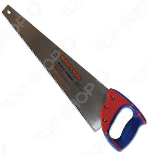 Ножовка по дереву SANTOOL 030101-020Лобзики. Ножовки. Пилы<br>Ножовка по дереву SANTOOL 030101-020 инструмент, используемый для поперечного распила древесины твердой и мягкой и древесностружечных заготовок ДСП, фанера, ламинат и т.д. . Рабочее полотно ножовки выполнено из высокопрочной стали и снабжено зубцами с трехгранной заточкой. D-образная двухкомпонентная рукоятка обеспечивает удобный и надежный захват инструмента во время выполнения работ.<br>