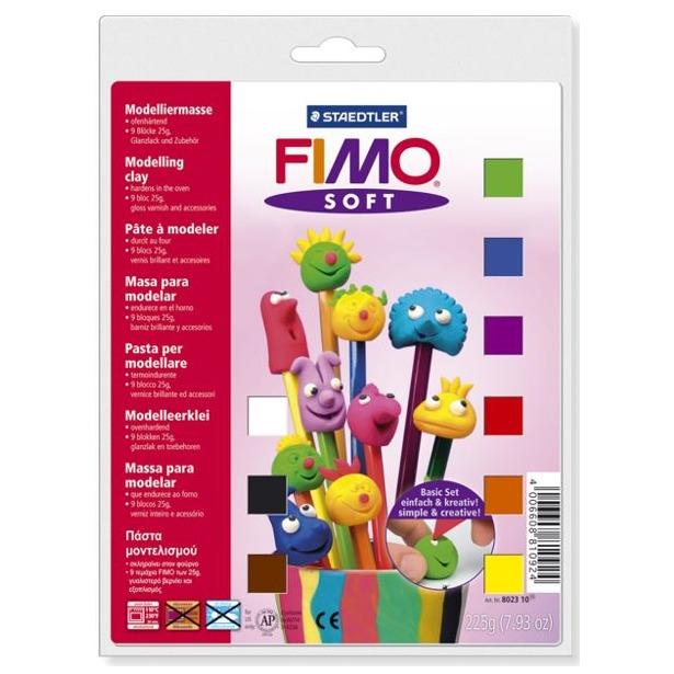 фото Глина полимерная для детей Fimo Soft 8023-10