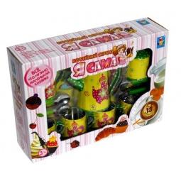 Купить Сервиз кофейный со столовыми приборами игрушечный 1 Toy «Я сама»