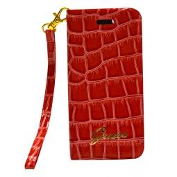 фото Чехол Guess Wallet Case Croco для iPhone 5. Цвет: красный