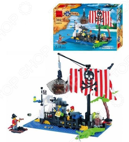 Конструктор игровой Brick «Пиратский плот» 1717073 игровой набор для ванны tomy пиратский корабль