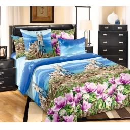 фото Комплект постельного белья Королевское Искушение «Ласточкино гнездо». 2-спальный. Размер простыни: 220х240 см