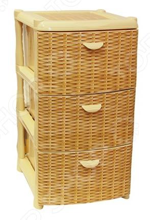 Комод 3-х секционный IDEA «Альт Деко. Ротанг»Комоды<br>Комод IDEA Альт Деко. Ротанг это незаменимый атрибут для любого дома. Три выдвижных вместительных ящика, удобные ручки и устойчивые ножки обеспечат комфортное хранение одежды, белья, различных аксессуаров для вас или вашего малыша. Модель изготовлена из прочного, качественного полипропилена, поэтому прослужит долго. Благодаря элегантному дизайну и универсальной расцветке, комод IDEA Альт Деко. Ротанг впишется в интерьер любого помещения.<br>