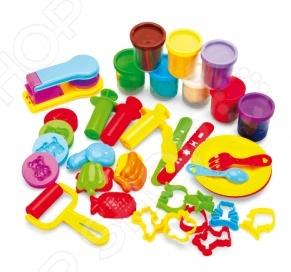 Набор для лепки: пластилин, формочки и штампы Bradex «Креативный пластилин»