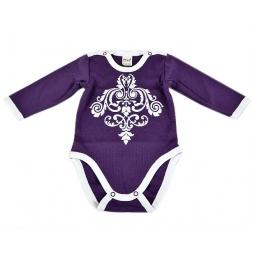фото Боди для новорожденных с длинным рукавом Ёмаё 24-06. Цвет: лиловый