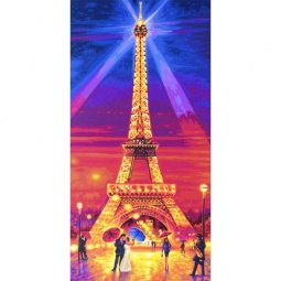 Купить Набор для рисования по номерам Schipper «Эйфелева башня ночью»