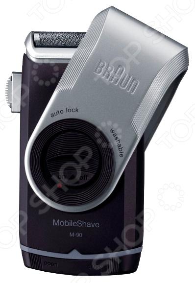 Электробритва Braun MobileShave M 90 бритва braun mobileshave m60r серебристый синий