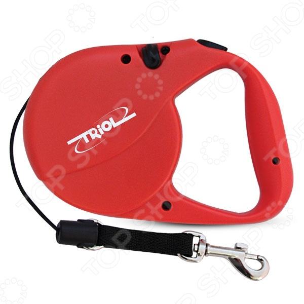 Поводок-рулетка TRIOL FD9008NY цепь поводок для собак triol с кожаной ручкой 3х110х10см