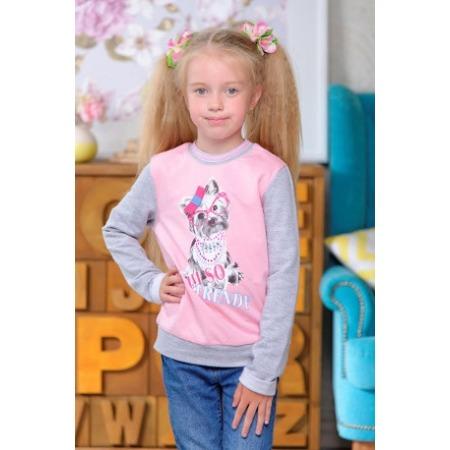 Купить Кофта для девочек Detiland AW15-UKN-GTL-045. Цвет: меланж, розовый