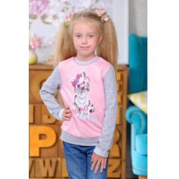 фото Кофта для девочек Detiland AW15-UKN-GTL-045. Цвет: меланж, розовый. Рост: 116 см