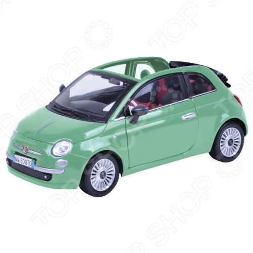 Модель автомобиля 1:24 Motormax Fiat Nuova 500 Cabrio модель автомобиля 1 18 motormax fiat nuova 500 cabrio