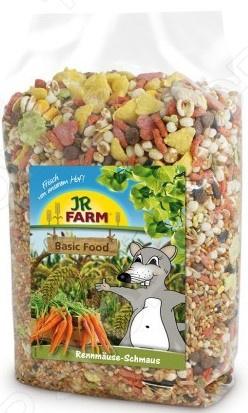 Корм для мышей-песчанок JR Farm Classic Feast 13681Корм<br>Корм для мышей-песчанок JR Farm Classic Feast 13681 полезная пищевая смесь, которая подходит для ежедневного рациона животного. Корм универсальный, поэтому им могут питаться все виды песчанок. В состав смеси входят дикие семена и овощи, он насыщен животным белком, витаминами и минералами, которые поддерживают иммунитет питомца и улучшают общее состояние организма. Корм разработан специально для мышей-песчанок, поэтому можете быть уверены, что миска с этой смесью точно не останется без внимания грызуна. Ежедневное употребление корма придаст вашему питомцу силы, подарит заряд бодрости и улучшит самочувствие.<br>