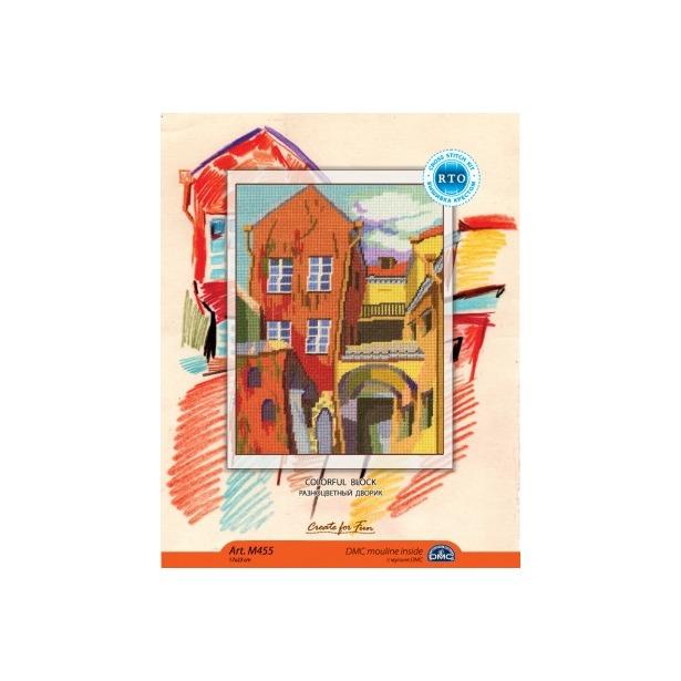 фото Набор для вышивания RTO «Разноцветный дворик»