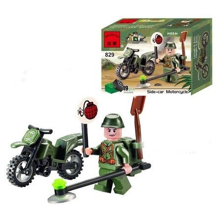 Купить Конструктор игровой Brick Side-Car Motorcycle 1717044