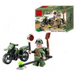 фото Конструктор игровой Brick Side-Car Motorcycle 1717044