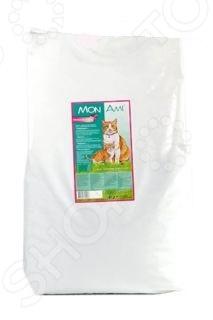 Корм сухой для кошек Mon Ami «Говядина»Сухой корм<br>Корм сухой для кошек Mon Ami Говядина сбалансированный рацион для ежедневного питания вашего любимца. Высокая энергетическая ценность удовлетворит потребности животного, при этом у вас не возникнет необходимости скармливать вашему питомцу большие порции. Оцените преимущества сухого корма Mon Ami:  Изготовлен из отборных ингредиентов, богатых питательными веществами.  Оптимальный баланс микроэлементов и витаминов для здоровья и хорошего настроения вашего питомца.  Данный корм хорош для профилактики мочекаменной болезни, поскольку содержит легкоусвояемые белки не перегружают почки . Сниженное содержание минералов и оптимальный уровень pH препятствуют образования песка и камней в почках. Если вы решили перевести своего питомца на новый рацион, то делайте это постепенно в течение 7 дней. Просто кормите кошку смесью этого корма с предыдущим, со временем уменьшая количество последнего. Ваш верный друг оценит новое лакомство, ведь корм изготовлен из отборных ингредиентов и отличается превосходным вкусом. Внимание! Не забывайте о свежей воде, которая должна быть постоянно в миске вашего питомца.<br>