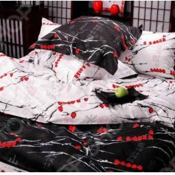 фото Комплект постельного белья из Сатина Tete-a-Tete «Снегири». 1,5-спальный