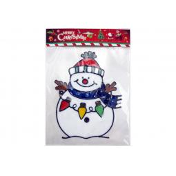 фото Новогодняя наклейка на стекло Crystal Deco «Снеговик» 1707859