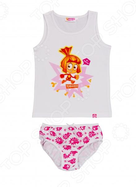 Комплект нижнего белья для девочки: майка и трусы «Симка. Я - Фиксик!»