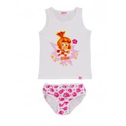 Купить Комплект нижнего белья для девочки: майка и трусы «Симка. Я - Фиксик!»
