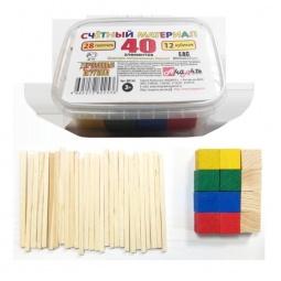 Купить Набор развивающий Русские деревянные игрушки «Палочки и кубики» Д013d
