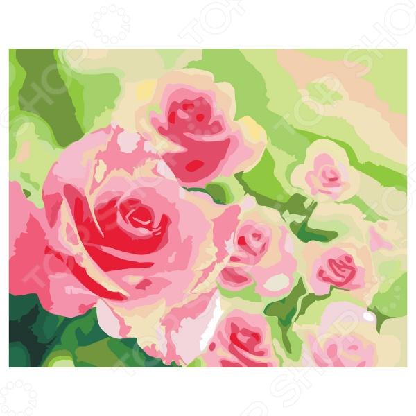 Набор для росписи по холсту Креатто «Розы в саду»Роспись по ткани<br>Набор для росписи по холсту Креатто Розы в саду великолепный набор для художественного творчества, который позволит вам почувствовать себя настоящим художником. Набор станет отличным подарком для детей и начинающих художников. В комплект входит картинка-заготовка размером 40х50 см, уже натянутая на деревянную рамку, акриловые краски 23 цветов, 3 кисточки, контрольная схема рисунка и крепежные петли для подвешивания. Акриловые краски легко ложатся на холст, быстро сохнут и отлично растворяются в воде. После высыхания нанесенные краски становятся водонепроницаемыми. Принцип работы с набором очень прост! Достаточно закрасить отмеченные цифрами области нужными цветами и в результате получится оригинальная картина с великолепным цветочным рисунком, которая станет прекрасным украшением вашего домашнего интерьера. Эта удивительная техника раскрашивания по номерам даст возможность легко рисовать даже очень сложные сюжеты, которые смогут стать достойным самодельным подарком для ваших друзей и близких. Набор для творчества также отлично подходит для развития пространственного мышления, художественного вкуса, внимательности, аккуратности и усидчивости!<br>