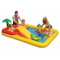 Купить Игровой центр-бассейн надувной с горкой Intex 57454