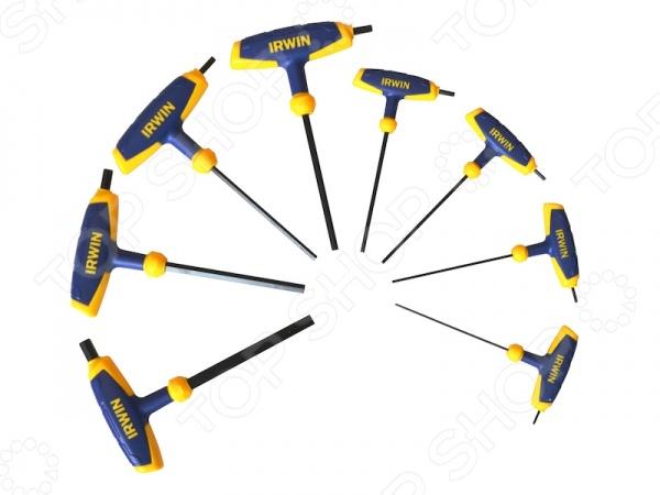 Набор шестигранных ключей IRWIN с рукояткой набор шестигранных ключей sata 09102
