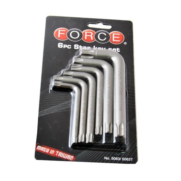 фото Набор ключей торкс угловых ударопрочных Force F-5063T