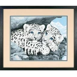 Купить Набор для рисования по номерам Dimensions «Детеныши снежного леопарда»