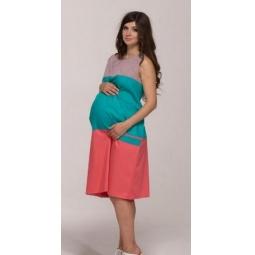 Купить Платье для беременных Nuova Vita 2122.03. Цвет: пыльно-розовый, бирюзовый, коралловый