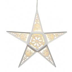 фото Декорация подвесная Star Trading «Звезда». Цвет: белый