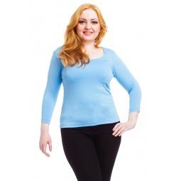 фото Кофта Mondigo XL 023. Цвет: голубой. Размер одежды: 48