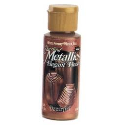 фото Краска акриловая DecoArt Dazzling Metallics. Цвет: медный пенни