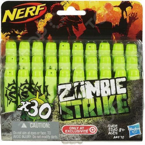 Комплект стрел для бластера Hasbro Zombie и Elit дополнительный набор для веселой и долгой игры с друзьями. Чтобы быть полностью вооруженным и не бояться потерять хотя бы одну стрелу, обязательно нужно иметь дополнительный запас. В него входит 30 снарядов для продолжительных боев.