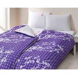 фото Комплект постельного белья TAC Сhina flower. 1,5-спальный. Цвет: фиолетовый