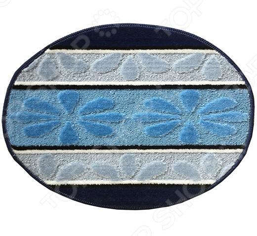 Коврик круглый для ванной Dasch «Ромашка»Коврики<br>Коврик круглый Dasch Ромашка предназначен для ванной комнаты. Изготовлен из мягкого, приятного на ощупь материала и имеет универсальную расцветку. Представленная модель обладает отличными влаговпитывающими свойствами, что защищает напольное покрытие от преждевременной порчи. Основа из латекса обеспечивает надежную фиксацию и предотвращает скольжение коврика по гладкой поверхности. Также стоит отметить, что за ковриком легко ухаживать, т.к. он подходит как для ручной, так и для машинной стирки при температуре 30 C. После стирки изделие не линяет, не скатывается и быстро сохнет. Постелите коврик Dasch Ромашка на пол и заходить в ванную босиком будет приятно даже в холодное время года. Он подарит ощущение тепла и комфорта, а благодаря оригинальному дизайну отлично впишется в ваш интерьер. Подходит для пола с подогревом.<br>