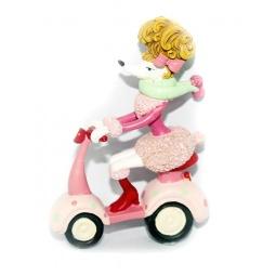 фото Елочное украшение-подвеска Crystal Deco «Собачка-Пудель на скутере»